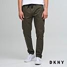 DKNY 男款 休閒運動風抽繩純色長褲 綠