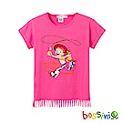 bossini女童-玩具總動員流蘇印花T恤-翠絲珊瑚色