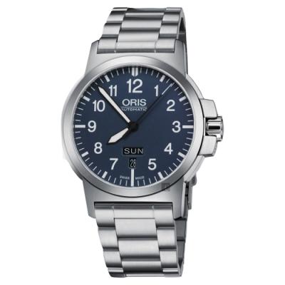 Oris豪利時 BC3 Advanced 日曆星期機械錶-藍x銀/42mm 0173576414165