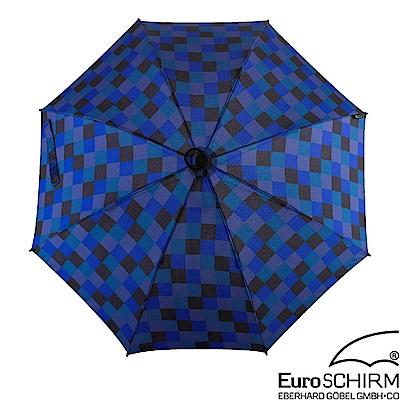 EuroSCHIRM SWING 徒步旅行輕量直傘.雨傘_方格藍