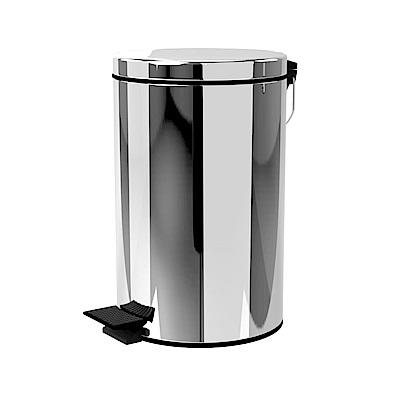 TRENY 加厚 緩降 不鏽鋼垃圾桶 12L