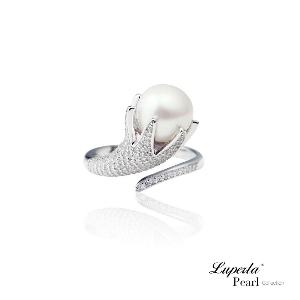 大東山珠寶 銀河織女星 純銀晶鑽天然珍珠戒指