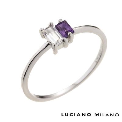 LUCIANO MILANO 水晶精靈純銀戒指(白K色/金色/玫瑰金色)