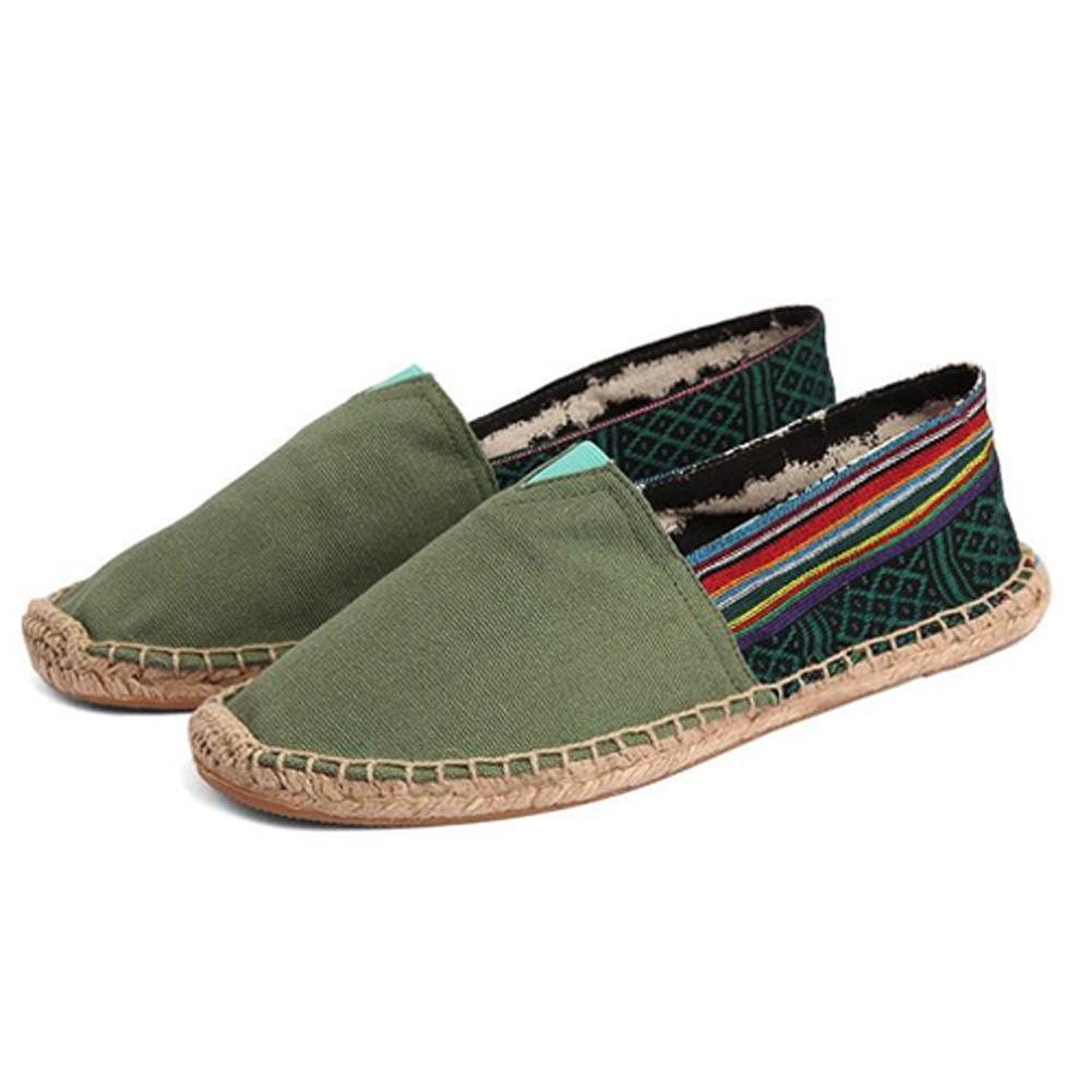 韓國KW美鞋館 (現貨+預購)森林系民俗風懶人鞋-綠