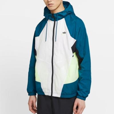 NIKE 連帽外套  男款 運動 風衣 休閒 白 灰 CJ4359499 Sportswear Heritage Windrunner
