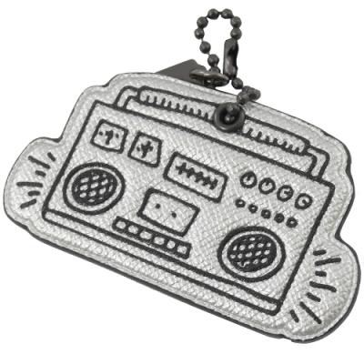 COACH Keith Haring 聯名收音機小吊飾(銀)
