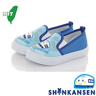 三麗鷗 新幹線童鞋 輕量減壓防滑幼稚園室內鞋懶人鞋-水