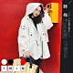 【KISSDIAMOND】韓系中長款寬鬆個性風衣外套-KDMHJ7260