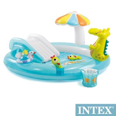 INTEX 鱷魚沙灘戲水池203*173cm(180L)(57129)