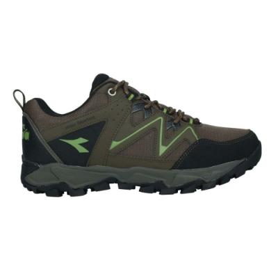 DIADORA 男戶外野趣登山鞋-防水 越野 運動 DA71190 棕黑綠