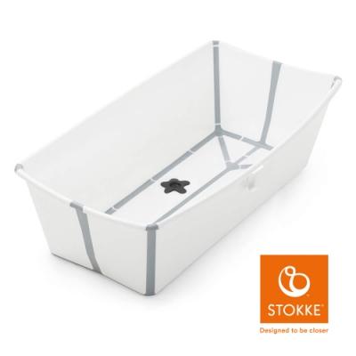 Stokke Flexi Bath 折疊式浴盆 X-Large 加大版-白色(灰色包邊)