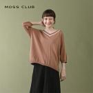 【MOSS CLUB】學院風-針織上衣(駝色)