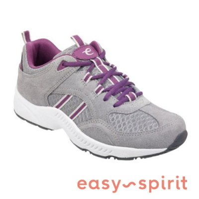 Easy Spirit ROCKIE 輕量有型雙線撞色休閒鞋-絨灰