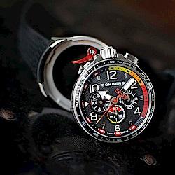 Bomberg炸彈錶 Bolt-68 Racing 賽車計時碼表全鋼黑面/45mm
