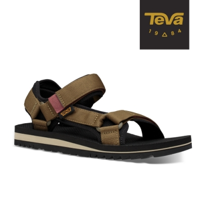 TEVA 原廠貨 男 Universal Trail 多功能經典運動涼鞋/雨鞋/水鞋-深橄欖