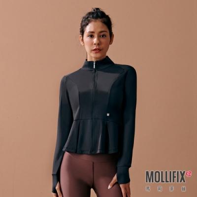 Mollifix 瑪莉菲絲 造型修身傘狀訓練外套 (黑)