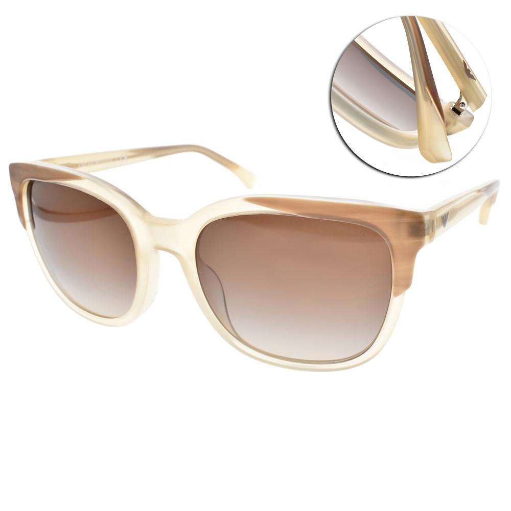 EMPORIO ARMANI太陽眼鏡 個性方框/透棕-#EA4119F 569913