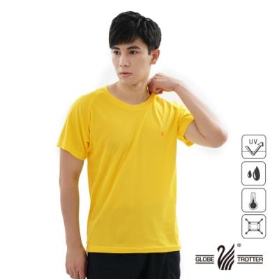 【遊遍天下】MIT中性款吸濕排汗抗UV機能圓領衫S0706黃色