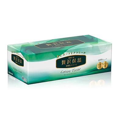 日本大王elleair 奢侈保濕柔霜面紙-沁爽薄荷(160抽/盒)