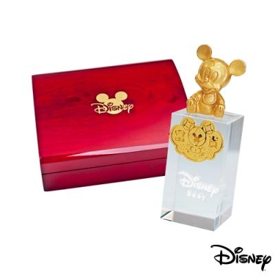(時時樂限定)Disney迪士尼系列金飾 水晶印章木盒-米奇款/美妮款