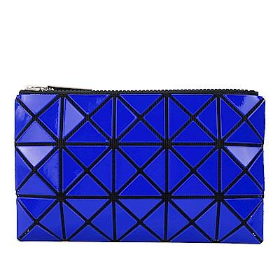 ISSEY MIYAKE 三宅一生BAOBAO 3x5幾何方格長型亮面零錢手拿包(深藍)