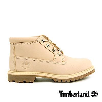 Timberland 女款淺米色絨面皮革防水休閒靴 | A1NDGK39