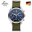 Laco 朗坤861919 德國工藝 Atlanta 軍事風格三眼計時腕錶 石英錶 藍 4