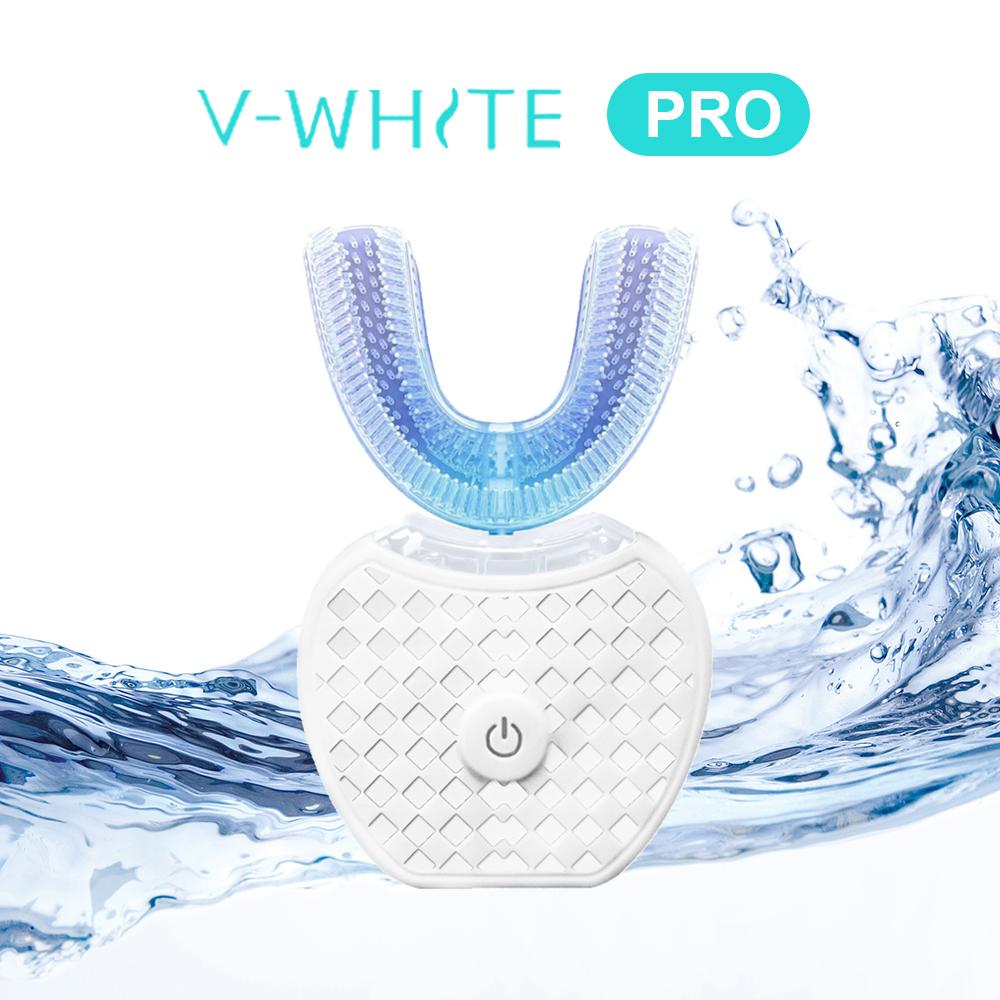 美國 V-White 第二代 PRO 免持變頻電動牙刷 奈米藍光 凈齒新科技*白色情人節*
