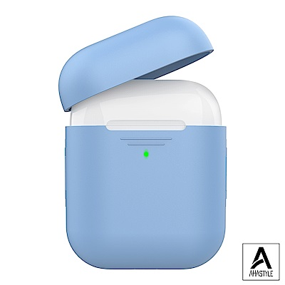 AHAStyle AirPods 1&2代矽膠保護套-淺藍色 1.4mm超薄款