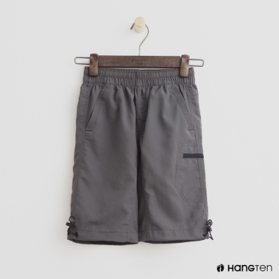 Hang Ten -童裝 - ThermoContro-防水機能logo束口短褲-灰