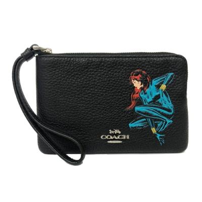 COACH 漫威聯名款女超人手拿包零錢包(黑)