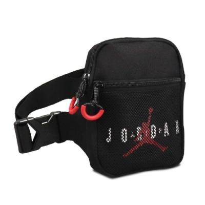 Nike 斜背包 Jordan Festival Bag 喬丹 飛人 外出 輕便 百搭 手機包 黑 紅 JD2113013AD001