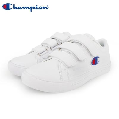【Champion】Court Velcro Full C 魔鬼氈休閒鞋 女鞋-白(WFLS-9008-06)