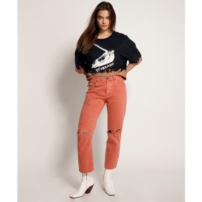 ONETEASPOON RISE STRAIGHT LEG JEAN 牛仔褲- 橘(女)