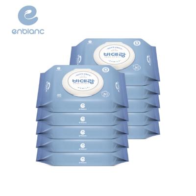 滿額送超贈點!【箱購】ENBLANC濕式衛生紙 - 一般型 46抽10包 / 箱 (可丟棄於馬桶)