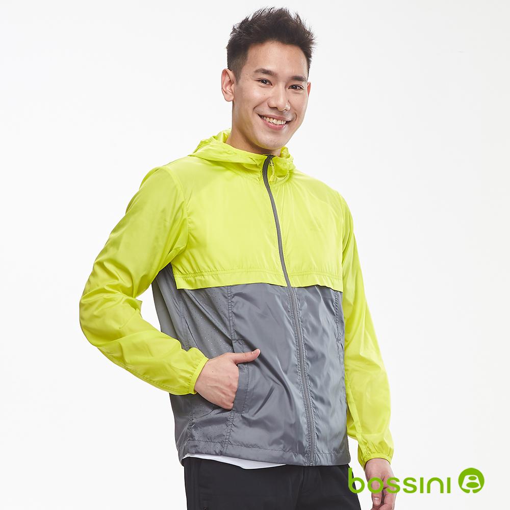 bossini男裝-多功能輕便風衣01草綠