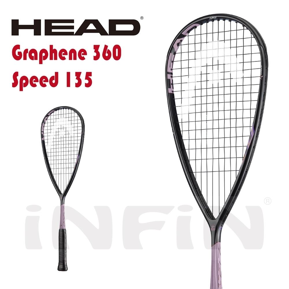 【HEAD】壁球拍 GRAPHENE 360 SPEED 120g 黑/粉紫 211039