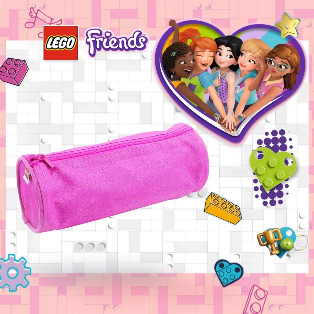 LEGO丹麥樂高圓筒狀鉛筆盒-粉紅色 10050-2004