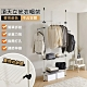 【VENCEDOR】 2.5cm粗管徑 頂天立地帶網框衣櫃架 product thumbnail 1