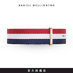 DW 錶帶 20mm金扣 經典藍白紅織紋錶帶