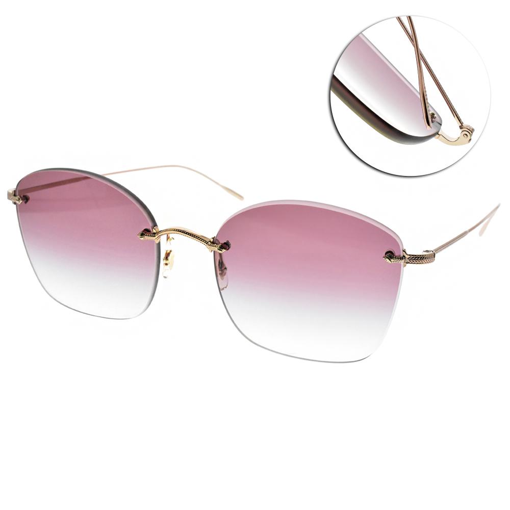 OLIVER PEOPLES太陽眼鏡 復古經典/玫瑰金 #MARLIEN 50378H