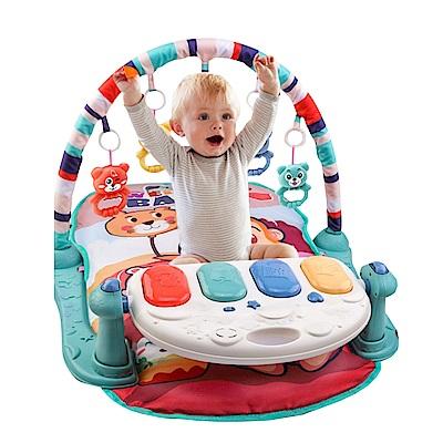 JoyNa嬰兒早教健身架踢踢琴 健力架腳踏鋼琴遊戲毯