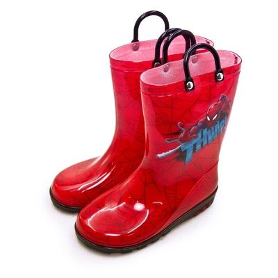 MARVEL 漫威 蜘蛛人 SPIDER-MAN 兒童雨鞋 高筒雨靴 台灣製造 紅黑 09692