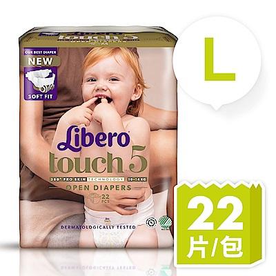 麗貝樂 Touch嬰兒紙尿褲5號(L-22片)