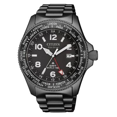 CITIZEN  PROMASTER光動能移動城市時尚腕錶-槍灰
