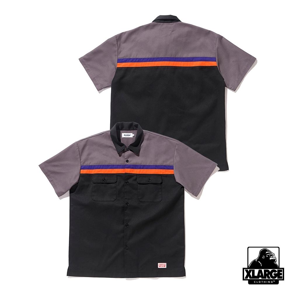 XLARGE S/S LINE WORK SHIRT短袖襯衫-黑