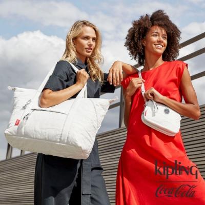 Kipling | Coca-Cola 聯名款空氣感岩石灰三夾層配件包-CREATIVITY XB