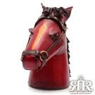 2R 樹羔皮革Funny手工雕製鬃馬存錢筒 暗酒紅