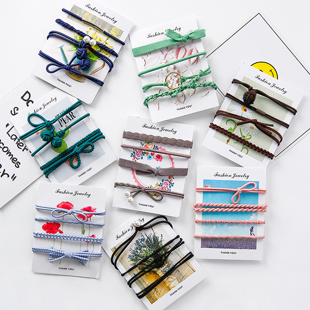 JINCHEN 韓系髮圈 髮繩 髮束4件組