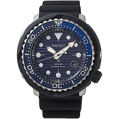 SEIKO精工 Prospex SCUBA愛海洋太陽能潛水錶SNE518P1-46.7mm